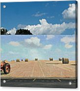 Haybales - The Other Side Of The Tunnel Acrylic Print by Blue Sky