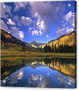 Haystack Mountain Reflected In Beaver Pond Acrylic Print