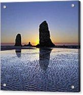 Haystack Needles Rocks At Cannon Beach Acrylic Print