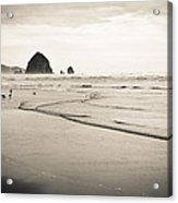 Haystack Rock And Cannon Beach Acrylic Print