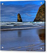 Haystack Rock And The Needles II Acrylic Print by David Patterson