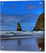 Haystack Rock And The Needles IIi Acrylic Print