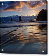Haystack Rock And The Needles Acrylic Print