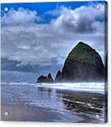 Haystack Rock Iva Acrylic Print by David Patterson