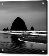 Haystack Rock On Cannon Beach Acrylic Print by David Patterson