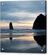 Haystack Rock On Cannon Beach Oregon Acrylic Print