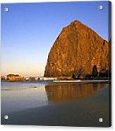 Haystack Rock Oregon Coast Acrylic Print