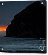 Haystack Rock Sunset Acrylic Print