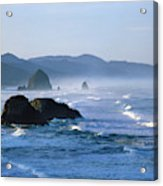 Haystack Rocks In Cannon Beach Acrylic Print