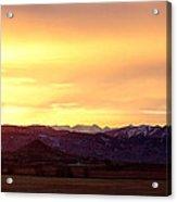 Haystack Rocky Mountain Front Range Sunset Panorama Acrylic Print