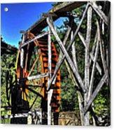 Haywood Cc Grist Mill Wheel Acrylic Print