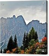 Haze And The Dolomites Acrylic Print