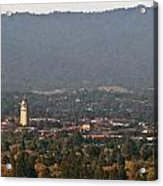 Hazy Autumn Day At Stanford University Acrylic Print