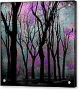 Hazy Purple Acrylic Print