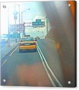 Hazy Taxi Ride Acrylic Print