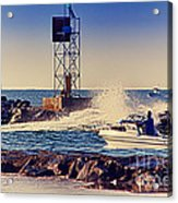 Hdr Boat Boats Fishing Ocean Beach Scenic Landscape Photos Pictures Photography Bay Buy Sell Photo  Acrylic Print