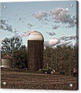 Hdr Image The Farmers Silo Acrylic Print