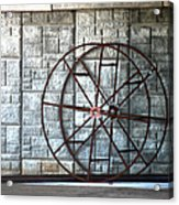 Hdr Industrial Cable Spindle Acrylic Print
