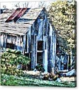Hdr Tin Patch Roof Barn Acrylic Print