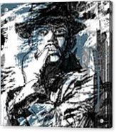 He Calls It Home - Blue Acrylic Print