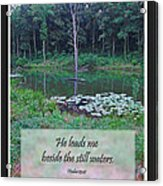 He Leads Me Beside The Still Waters Acrylic Print