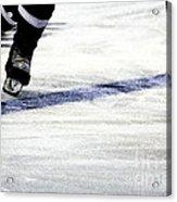 He Skates Acrylic Print by Karol Livote