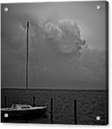 Head In The Clouds In Black And White Acrylic Print