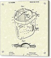 Head Protector 1914 Patent Art Acrylic Print