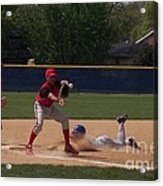 Head Slide In Baseball Acrylic Print