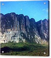 Head Wall Of Mount Roriama Acrylic Print by Steven Valkenberg