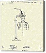 Head Washer 1887 Patent Art Acrylic Print