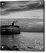 Headed West Black And White Acrylic Print