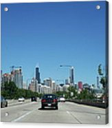 Heading North On Lake Shore Drive In Chicago Acrylic Print