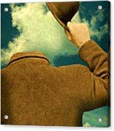 Headless Man With Bowler Hat Acrylic Print