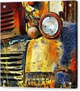 Headlight On A Retired Relic Abstract Acrylic Print