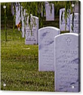 Headstones Of Arlington Cemetery Acrylic Print