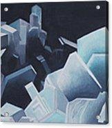 Healing Blue Crystals Acrylic Print