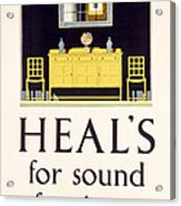 Heals Sound Furniture Advertisement Acrylic Print