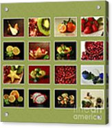 Healthy International Fruits Collection Acrylic Print