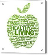 Healthy Living Apple Illustration Acrylic Print