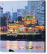 Hean Boo Thean Temple At Blue Hour Acrylic Print