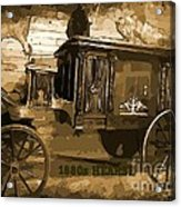 Hearse Poster Acrylic Print by Crystal Loppie