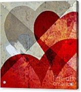 Hearts 8 Square Acrylic Print