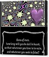 Heart And Love Design 14 With Bible Quote Acrylic Print