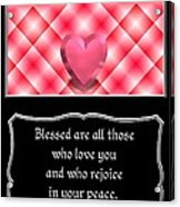 Heart And Love Design 15 With Bible Quote Acrylic Print