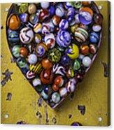 Heart Box Full Of Marbles Acrylic Print