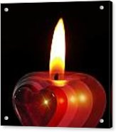 Heart Candle Acrylic Print