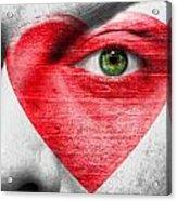 Heart Face Acrylic Print