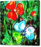 Heart Flowers Acrylic Print