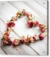 Heart From Dry Rose Buds Acrylic Print